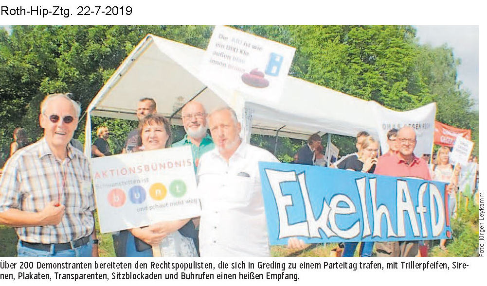Aktionsbündnis bei Demo in Greding